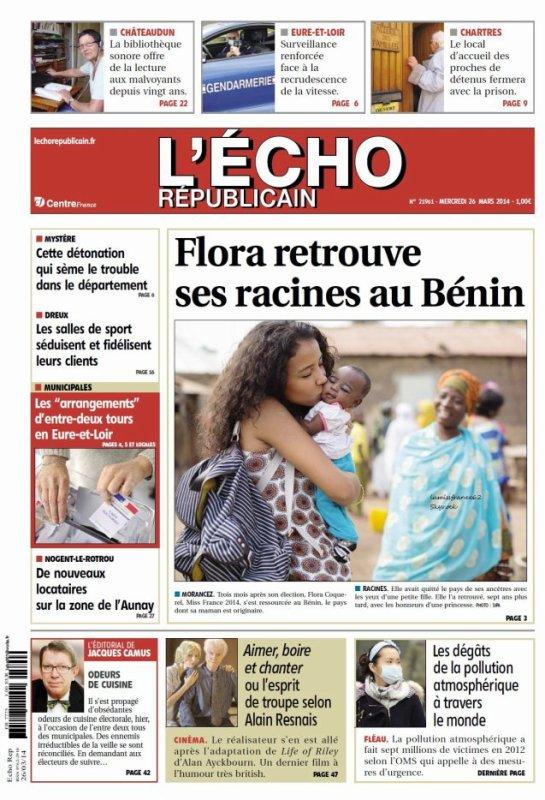 Flora dans le magazine  L 'écho  républicain / Flora , France bleu midi ensemble / Flora , Le Claudy Show