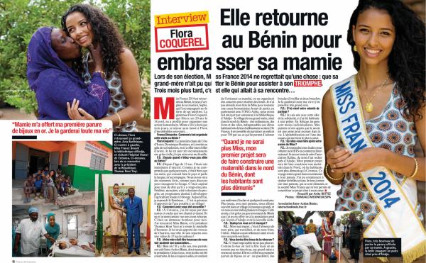 Flora retourne au Bénin