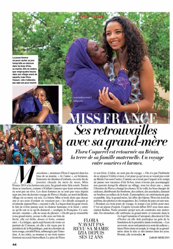 Flora  à la foire exposition Orléans / Flora dans le magazine Gala