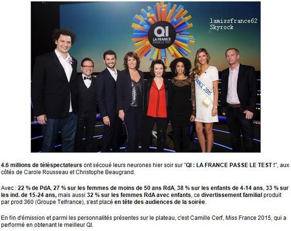 Camille passe le test du - QI sur TF1