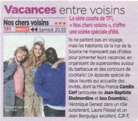 Camille dans la  Revue de Presse.