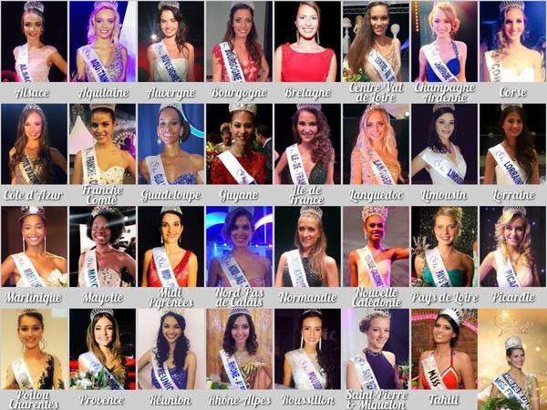 Voici les 31 candidates régionales au concours de Miss France 2016