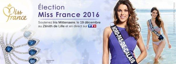 Soutenez Iris Mittenaere le 19 décembre ,  pour l'élection de Miss France en direct sur TF1