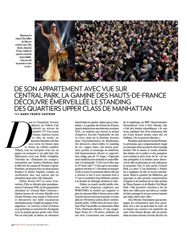 Iris dans le Paris Match