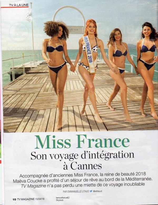Les Miss  sur Tv Mag du 15 Avril 2018