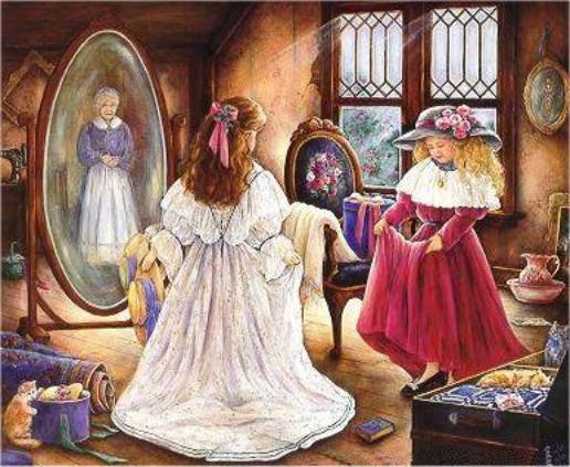 Le miroir et la petite fille petit conte ma for Tu est le miroir de ma vie