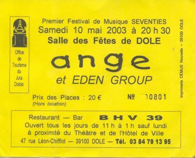 DOLE (39) - Samedi 10 mai 2003 - Ticket