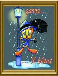 il pleut ché moi :-(