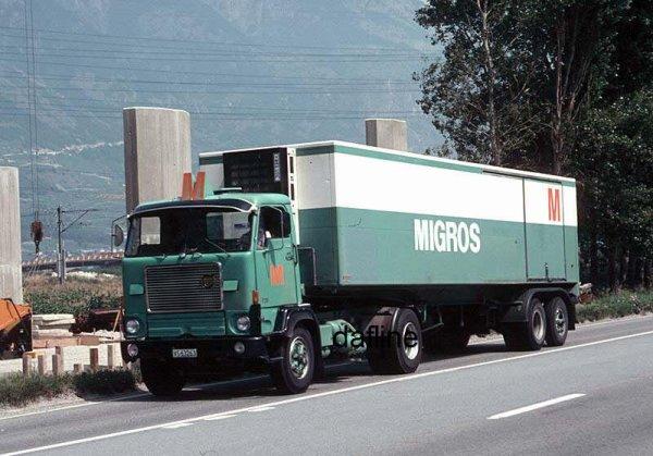trs migros logistique le vieux camion de la semaine