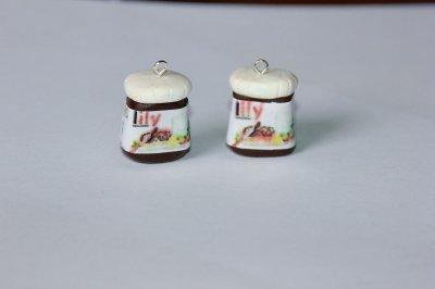Petits pots de nutella pour Lily!