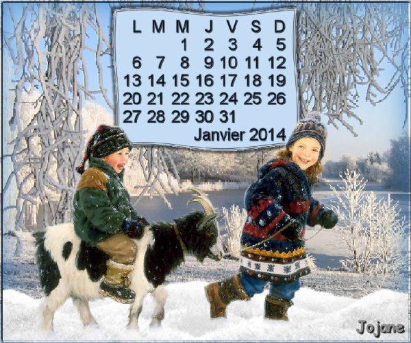 Calendrier de Janvier 2014