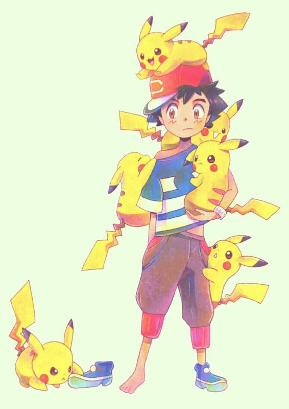 sacha et pikachu <3<3<3 3