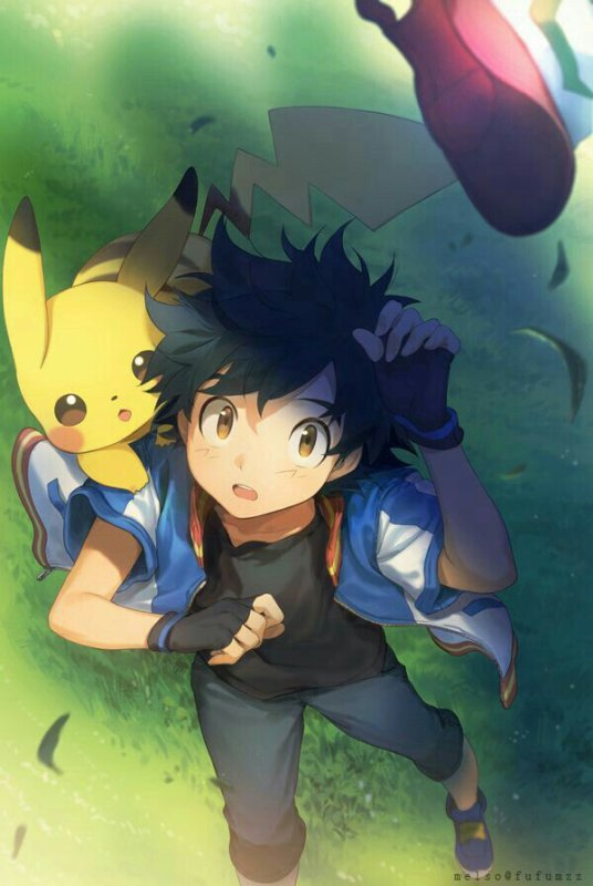 sacha et pikachu <3<3<3 4