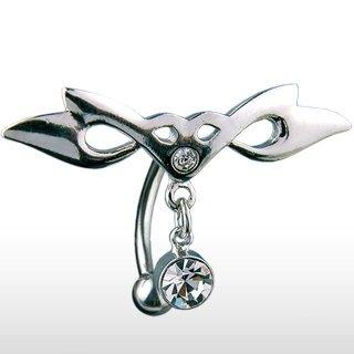piercing nombril inversé triba sur le site http://ile-aux-piercings.fr  piercing nombril pas cher piercing nombril tribal acier chirurgical 316l