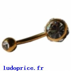 piercing nombril sur le site http://ile-aux-piercings.fr / piercing téton pas cher piercing nombril plaqué or