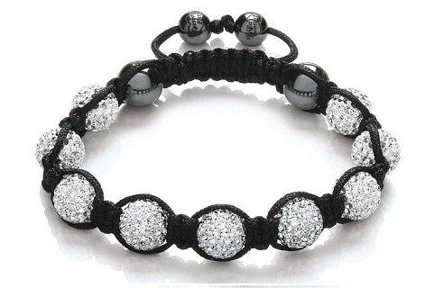 bracelet shamballa blanc sur http://ile-aux-piercings.fr