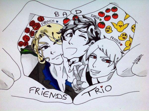 Dessin Hetalia Axis Power : Bad Friends Trio ♥