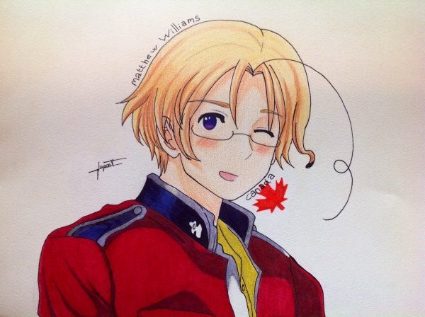 Dessin Hetalia Axis Power : Canada ♥