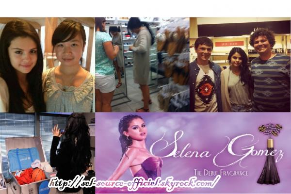 Bonjour. Selena a déjà quitté la ville de New York pour se rendre en Floride visiblement pour le mariage d'une ami de Justin Bieber.. Elle a donc été aperçue par des fans avec qui elle a d'ailleurs posé et un fan a pris une photo d'elle lorsqu'elle faisait un peu de shopping! Il y a quelques minutes Selena a posté une nouvelle photo sur Facebook et désormais découvrez une affiche promo du parfum Selena Gomez!