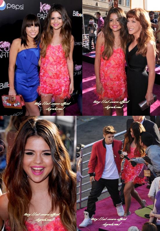 photos de Selena se rendant au Chateau Marmont avec Justin Bieber et Katy Perry, après la première du film Part of Me.