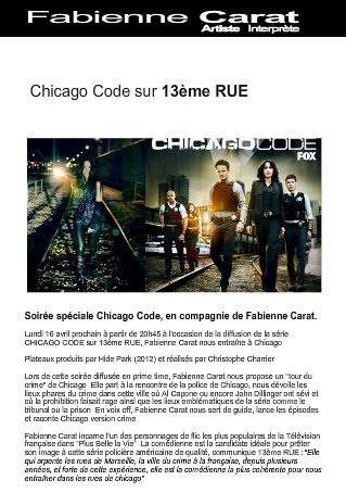 CHICAGO CODE SUR 13EME RUE