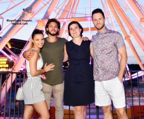 Rayane et Denitsa au lancement de la nouvelle Seat Ibiza à Paris - Le 21 juin 2017