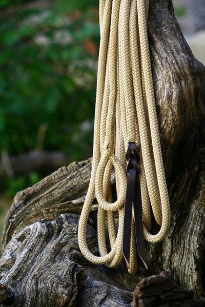 Longe fine (diametre 10 mm) en 7m, pouvant servir de longue rênes