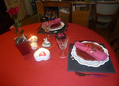 TABLE DE SAINT-VALENTIN