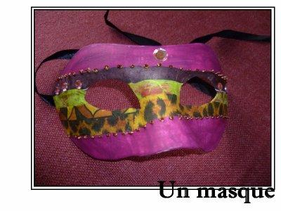 Réaliser un masque pour le carnaval