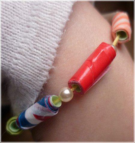 Fabriquer des perles en Masking Tape