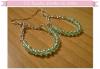 """DIY Boucles d'oreilles """"créoles"""" en perles"""