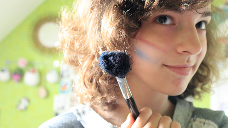 DIY Maquillage tricolore