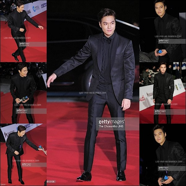 -- FLASHBACK. 26/11/15: Lee Min-ho aux 36e Prix Blue Dragon Grand Palais de la Paix à l'Université Kyung Hee à Séoul My God ! Je le trouve totalement magnifique ! Dans son beau costume avec un n½ud papillon il est trop classe TOP. Vos Avis?  --