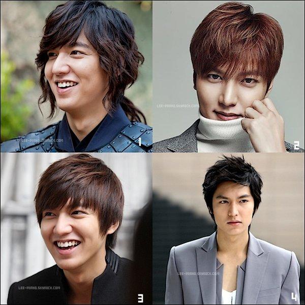 -- SONDAGE: Découvrez 4 photos de Lee Min-ho dites moi qu'elle coupe de cheveux vous préférez? --
