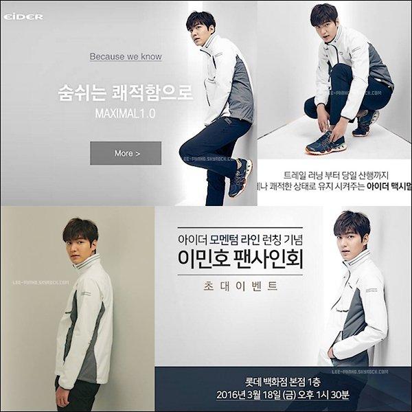 -- PHOTOSHOOT: Découdrez 4 photos de Lee Min-ho un superbe photoshoot pour la marque EIDER 2016. --