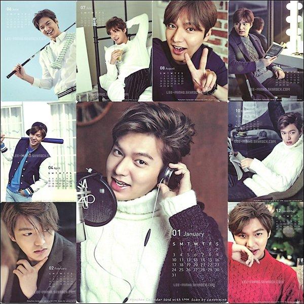 -- Découvrez un Calendrier de Lee Min-Ho pour l'année 2016 ! J'adore vos Avis? --