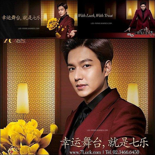 -- Notre beau Lee Min-Ho faisant la promotion pour le Seven Luck Casino. Vos Avis? --