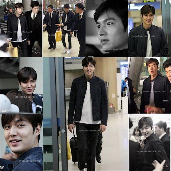 -- 30/03/2016: Lee Min-ho était encore à l'aéroport de Pudong à Shanghai ou il rentrait à Icheon en Corée. --