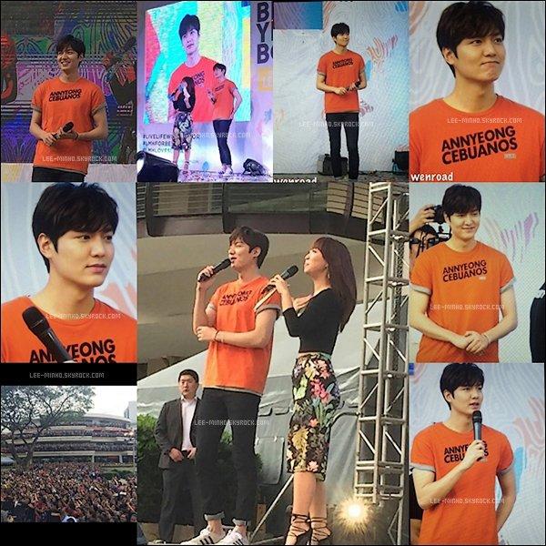 -- 03/04/2016: Lee Min-ho était comme prévu à l'événement pour la marque For Bench à Manille. Beaucoup de fan. --