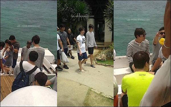 -- 04/04/2016: Lee Min-ho était tranquillement en visite prenant le bateau durant son séjour au Philippines. --