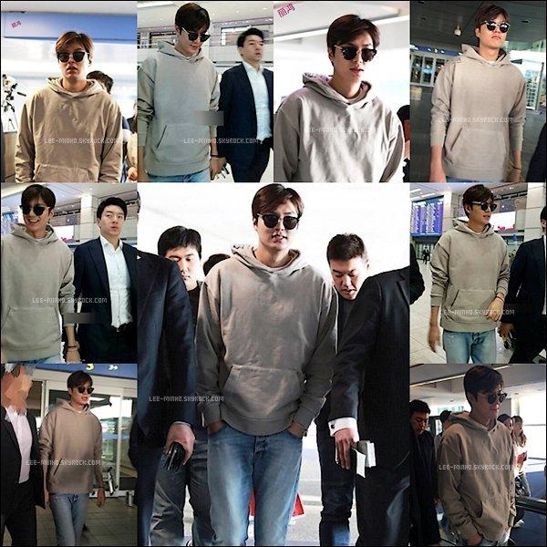 -- 05/04/2016: Good Bye Manille et les Philippines Lee Min-ho était à l'aéroport ou il rentré en Corée. --