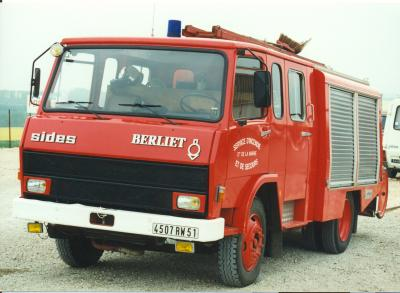 ANCIEN FPT N°3 BERLIET 770KB SIDES REIMS-WITRY