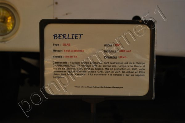 ANCIEN FDGP BERLIET GLAE TYPE CERCUEIL REIMS-WITRY