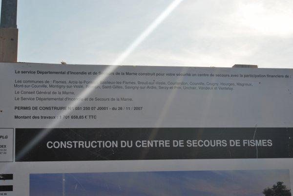 CENTRE DE SECOURS DE FISMES LE PROJET