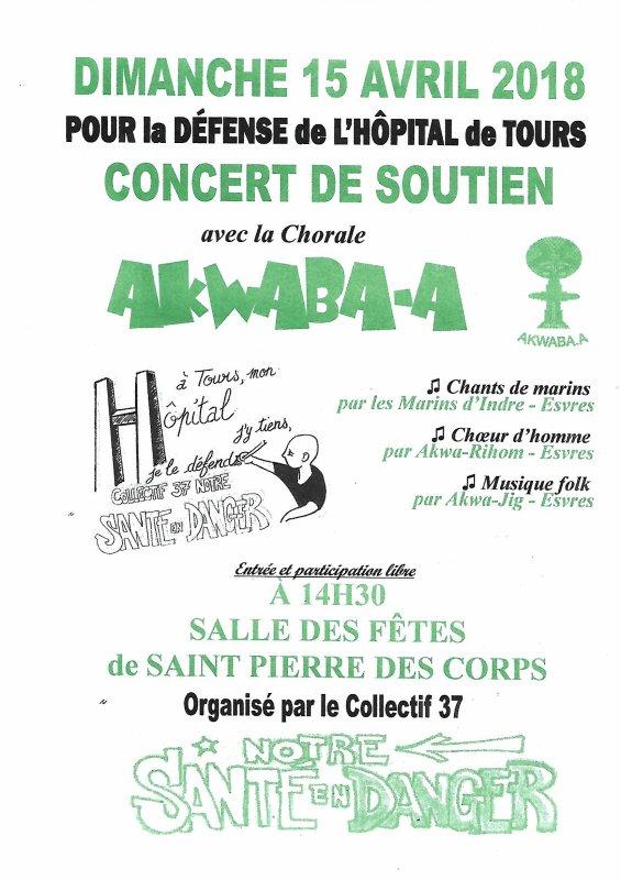 collectif  37 de soutien la chorale chante pour la défense de l'hôpital de Tours