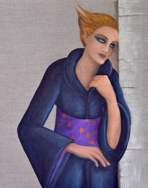 """47 - """"Femme à la ceinture violette"""""""