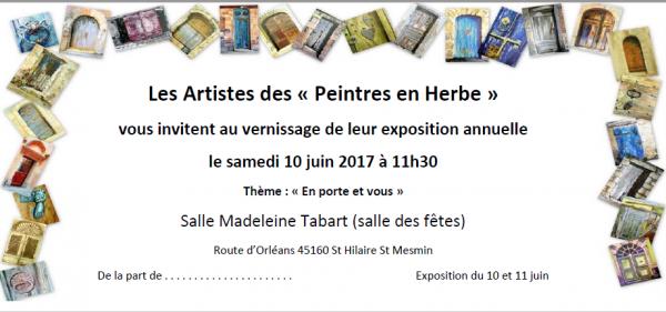 EXPO des peintres en herbe à St Hilaire St Mesmin