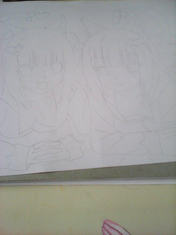 Mon dessin pendant l'atelier dessin avec ma petite soeur
