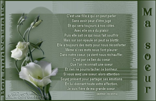 Un Vrai Poeme Pour Toi Ma Soeur Moi Ma Famille Mes