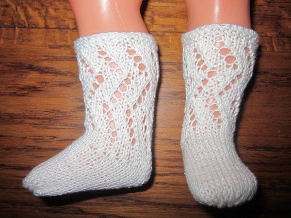 Chaussettes pour les poupées mode et travaux